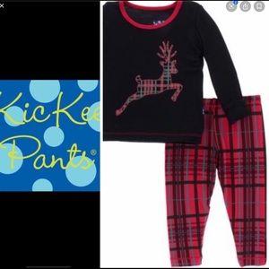 NWT-KicKee Pants Baby Holiday Long Sleeve Pajamas